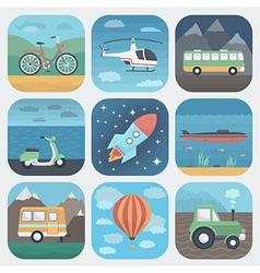 Transport app icons set vector