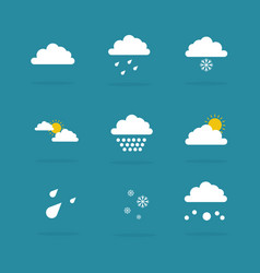 Weather set icon vector