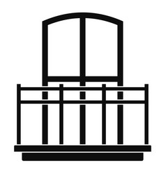 Wide balcony icon simple style vector