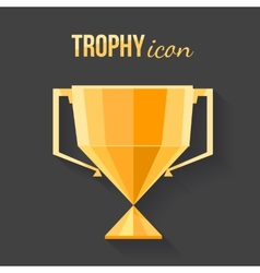 Winner golden cup vector image