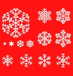 Snow set red vector