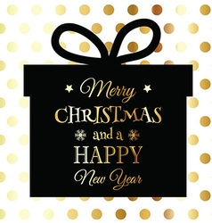 Gold and black christmas background 3110 vector