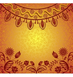 frame in indian style vector image