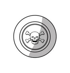 Skull death symbol vector