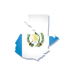 Guatemala flag amp map vector