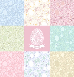 Eight versions easter pattern vector