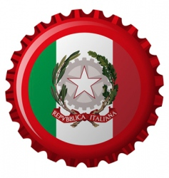 Italy bottle cap vector