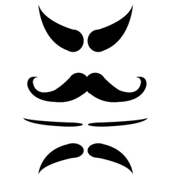 Mustache isolate vector