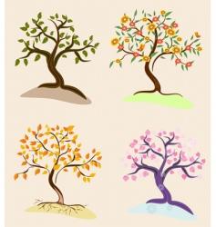 trees seasons vector image