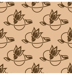 Flower buds seamless pattern vector image