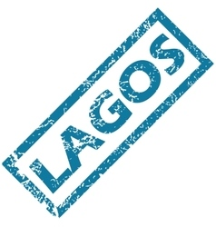 Lagos rubber stamp vector