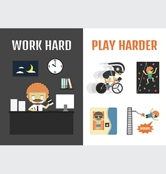 109work hard play harder vector