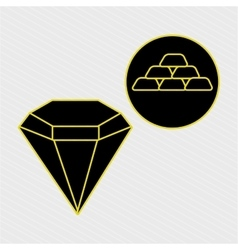 Icon wealth design vector