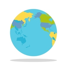 Planet earth with countries vector