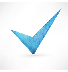 blue checkmark vector image