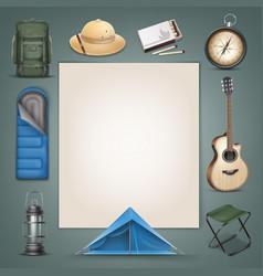 camping stuff vector image