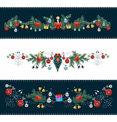 Christmas Ornamental Frame vector image vector image