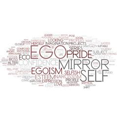 Ego word cloud concept vector