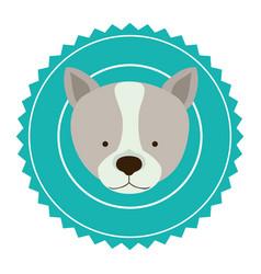 emblem dog hunter city icon vector image vector image