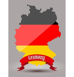 Germany flag map vector image vector image