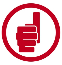 Hand showing thumbs up symbol - hand giving OK vector image vector image
