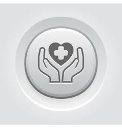 Health Care Center Icon Grey Button Design vector image