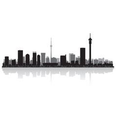 Johannesburg city skyline silhouette vector