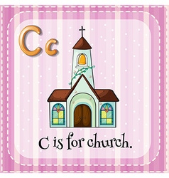 Letter c is for church vector