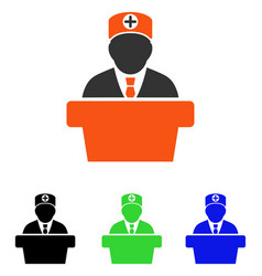 Medical official lecture flat icon vector