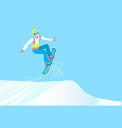 professional snowboarding winter sport vector image vector image
