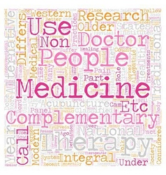 Role of alternative medicine in modern society vector