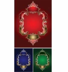 Royal ornate frames vector