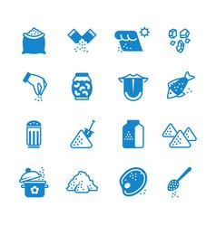 Salt silhouette icons set vector