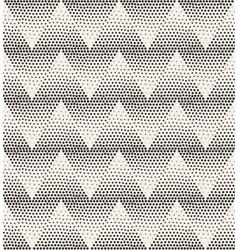 Seamless stippling chevron zigzag halftone vector