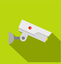 Security camera icon flat style vector