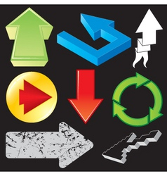 set of arrows variation vector image vector image