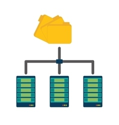 shared archived folders data center related vector image vector image