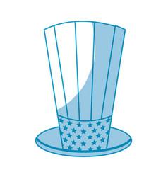 Silhouette usa hat to patritism celebration design vector