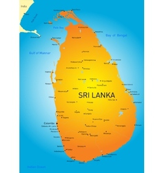 Sri lanka vector