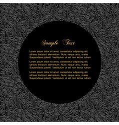 Textured black background with bordered circle for vector image vector image