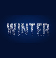 Winter shiny white typographic text holiday vector