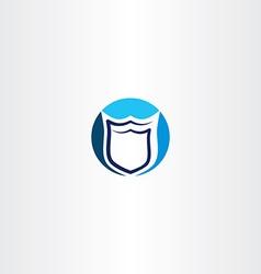 Security shield logo icon design vector