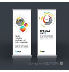 Abstract business set of modern roll up vector
