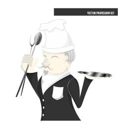 Profession set chef cartoon vector image