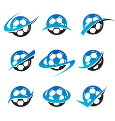 Soccer ball logo icons vector