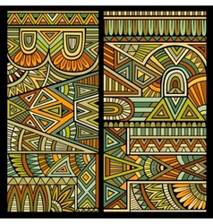 Abstract tribal ethnic background vector image