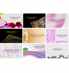Glamour fashion business cards vector