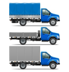Lorry icons set 1 vector