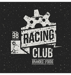 Emblem racing club in retro style vector