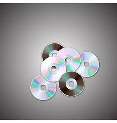 Dvd and cd disc sets computer disks realistic vector